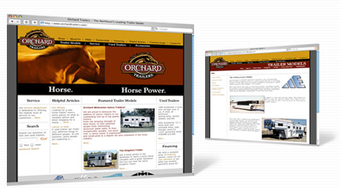 Orchard Trailers home page