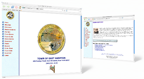 Town of East Hampton's web site